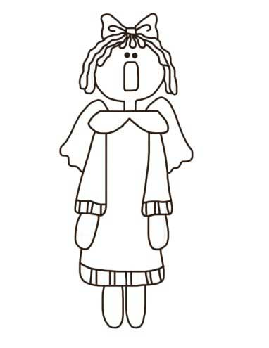 Annie Angel Coloring Page