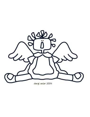 Angel in an Annie Coloring Page