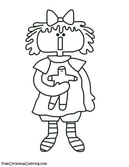 Annie Apple Coloring Pages