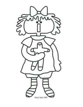 Cute Little Cookie - Christmas Annie Coloring Page