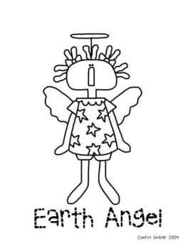 Earth Angel - Angel Coloring Page