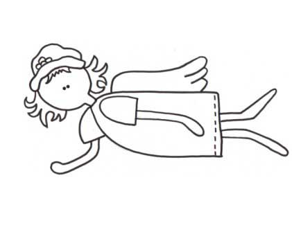 Fly N Angel Coloring Page