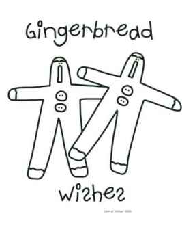 Gingerbread Wishes - Gingerbread Coloring Page