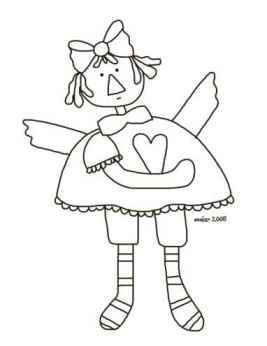 Heart Angel Coloring Page