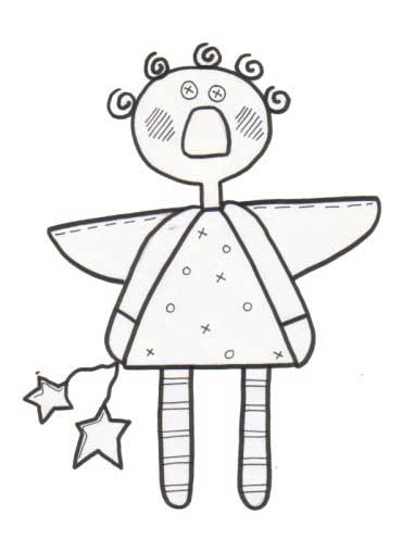 Lil Angel Annie Coloring Page