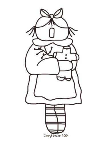 Lil Ginger Mammy - Christmas Annie Coloring Page
