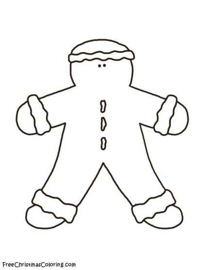 Gingerbread Man Coloring Page - Little Ginger Guy