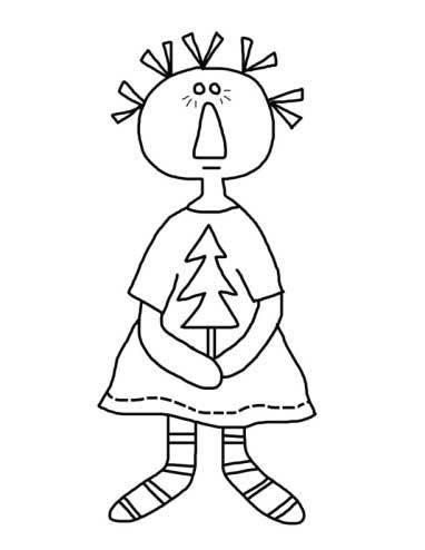 Little Tree Annie - Christmas Annie Coloring Page