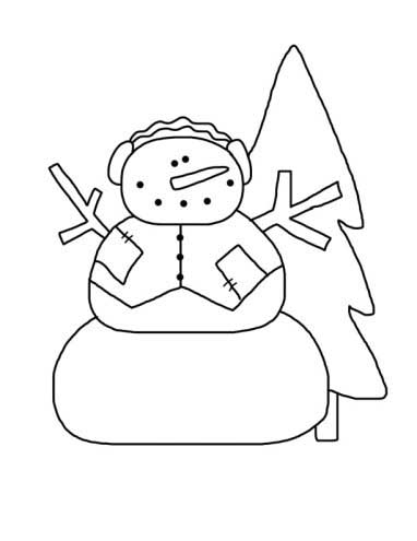 Mr. Snow Snowman Coloring Page