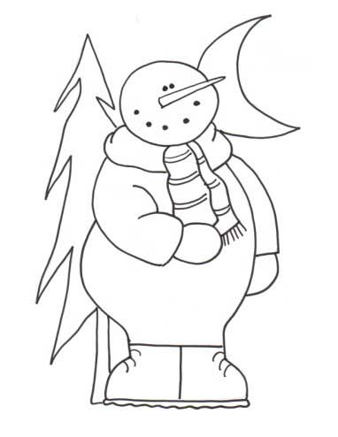 Mr. Snowman Coloring Page