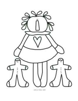 My Little Ginger Pals - Christmas Annie Coloring Page