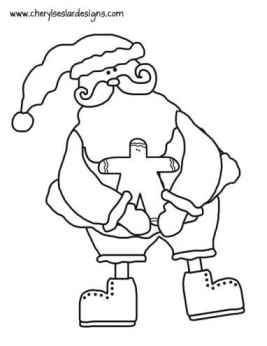 Ole St. Nick and Ginger Coloring Page