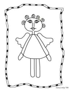 Prim Angel Coloring Page