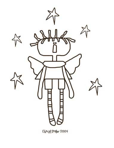 Skinny Angel Annie Coloring Page