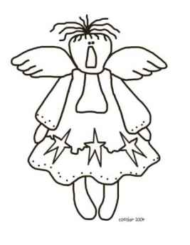 Star Angel Coloring Page