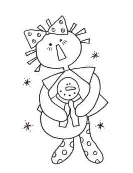 Winter Annie - Christmas Annie Coloring Page