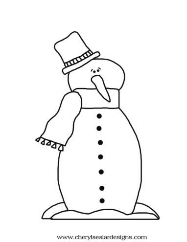 Winter Guy Snowman Coloring Page