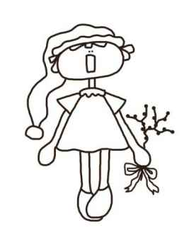 Christmas Annie - Christmas Annie Coloring Page