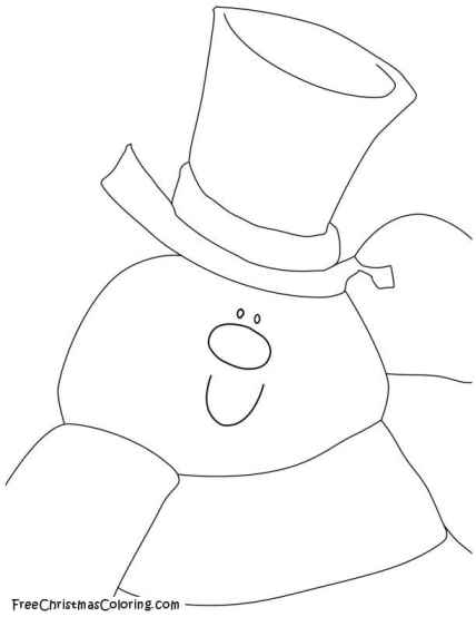 snowman coloring page frosty snowman