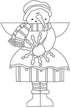 snow angel coloring page - angel coloring page snow angel with snow flake