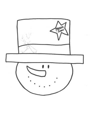 Love My Top Hat Snowman Coloring Page