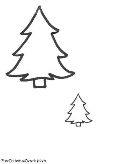 Christmas Tree Coloring Pages  FreeChristmasColoringcom