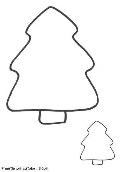 Christmas Tree Template Colouring : Free coloring pages of christmas tree templates