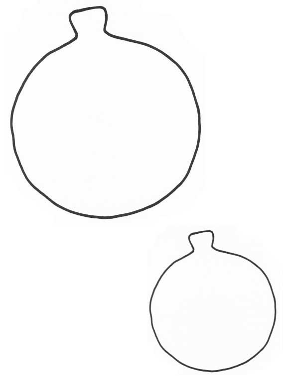 Free Coloring Pages Of Ornament Templates Blank Ornament Coloring Page