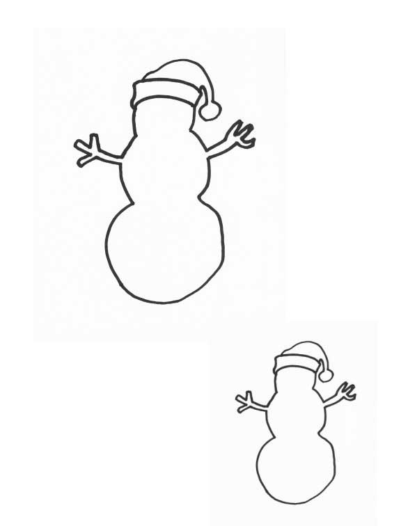 Printable Snowman Hat Coloring Pages