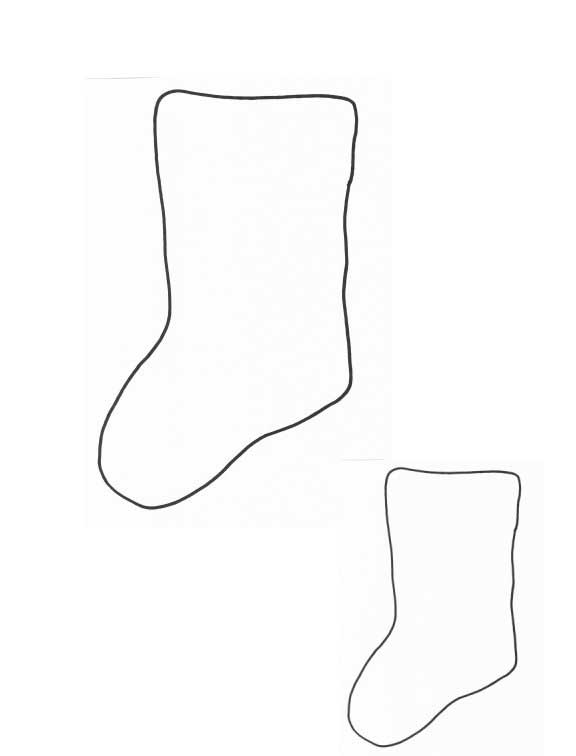 coloring pages of christmas stockings - photo#27
