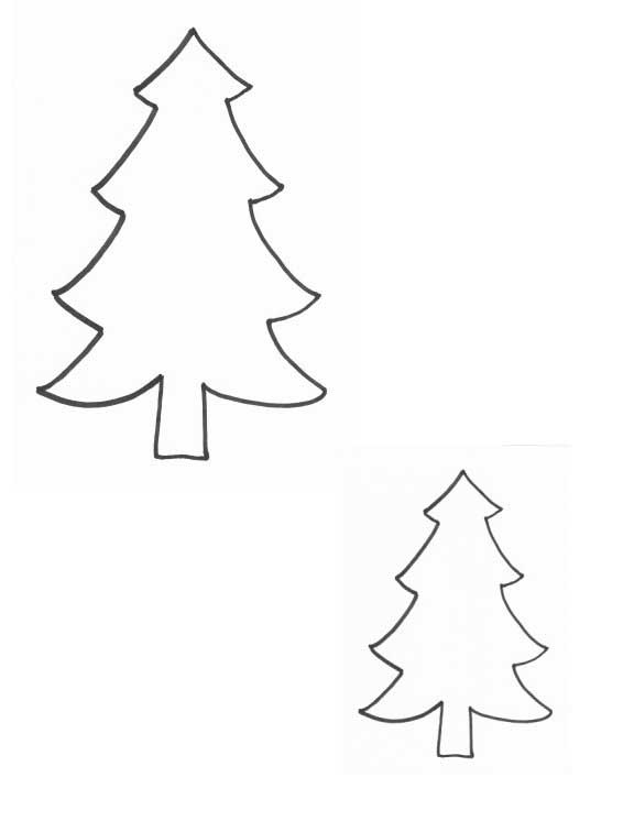 christmas tree outline coloring pages - photo#30